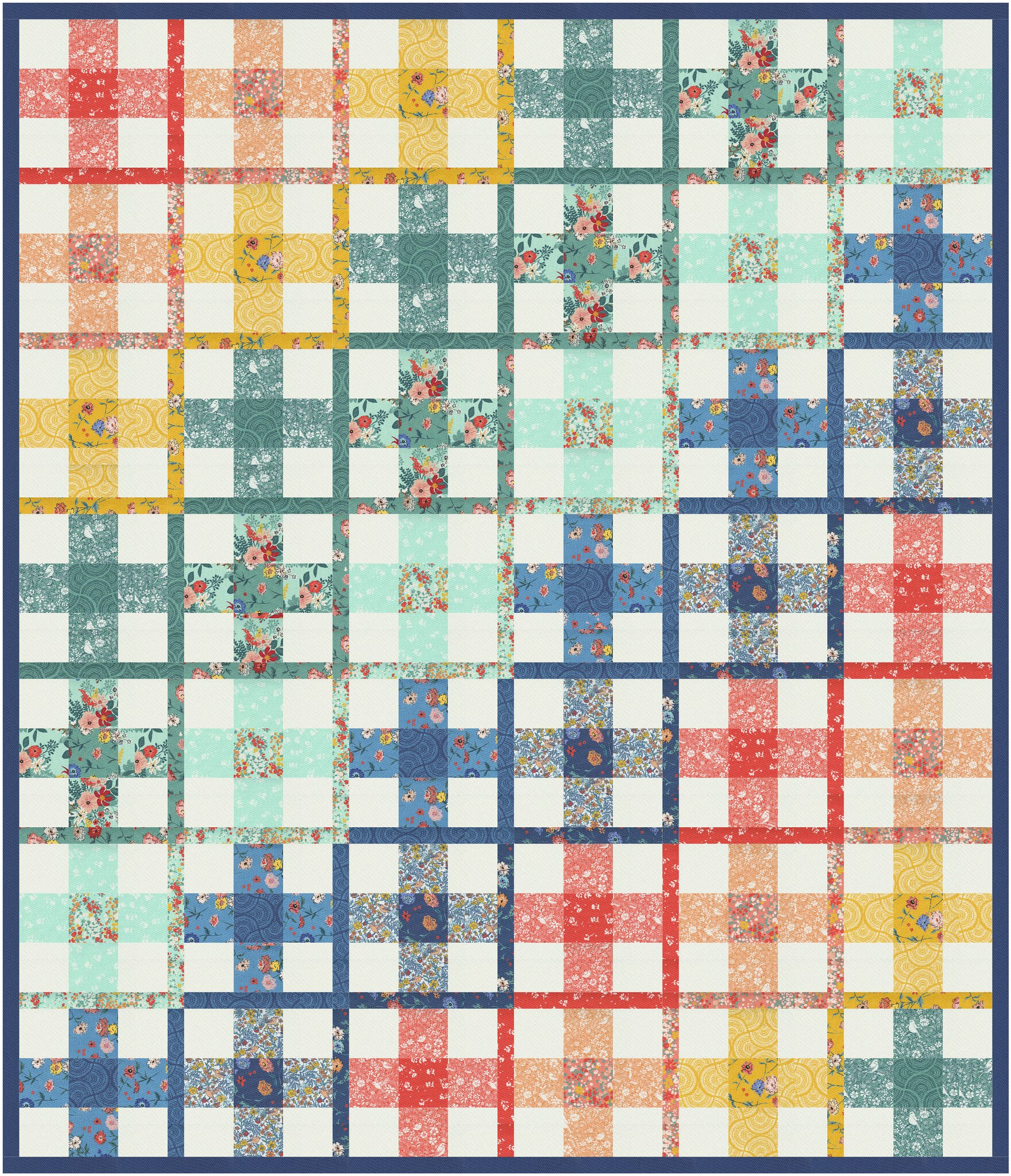 The Taylor Quilt in Lady Bird - Kitchen Table Quilting