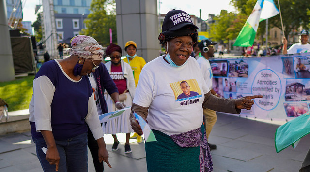 Yoruba Nation activists protest in Woolwich