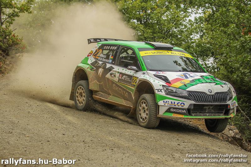 Marco Bulacia Wilkinson Skoda Fabia Rally2 WRC Acropolis Rally 2021 SS15 Tarzan Power Stage