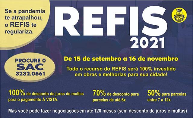 Se a pandemia te atrapalhou, o REFIS te regulariza! Prefeitura de São Gabriel