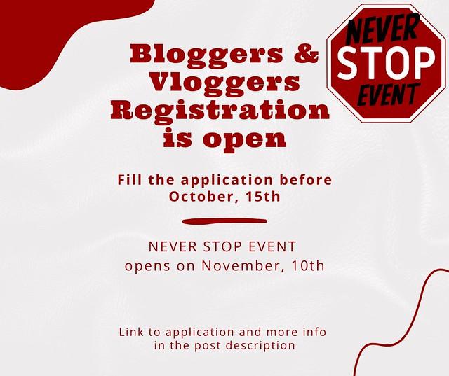 Blogger & Vlogger registration open