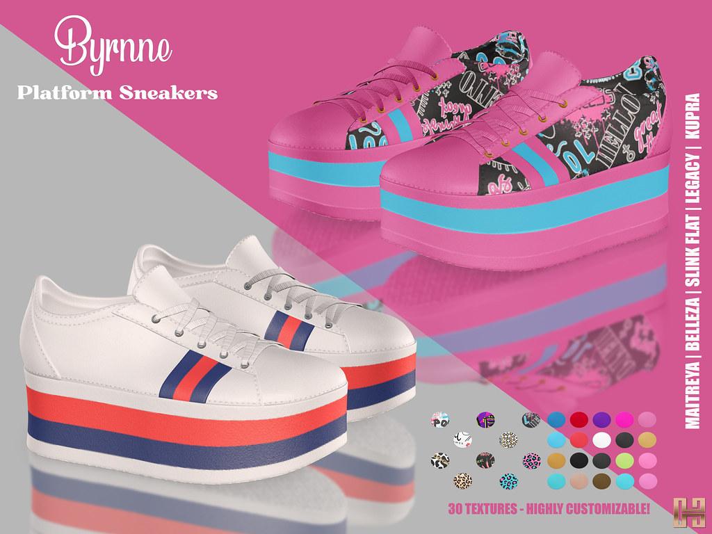 Hilly Haalan – Byrnne Platform Sneakers