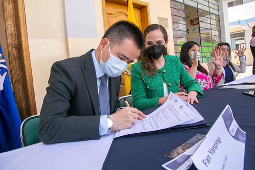 Entrega de insumos tecnológicos y firma de memorando de Entendimiento entre Huawei y Ministerio de Educación