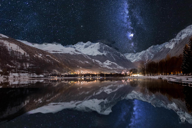 Voie Lactée à la montagne