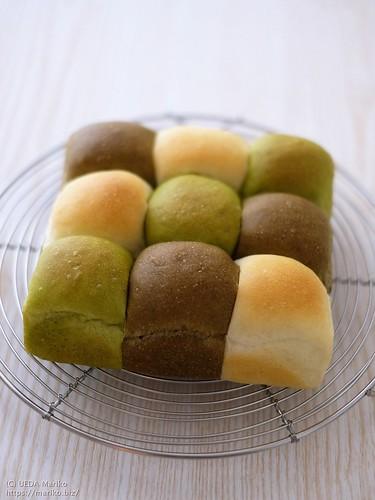抹茶ほうじ茶ちぎりあんパン 20201213-DSCT7813 (2)