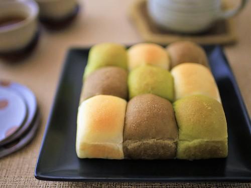抹茶ほうじ茶ちぎりあんパン 20201213-IMG_0328 (3)