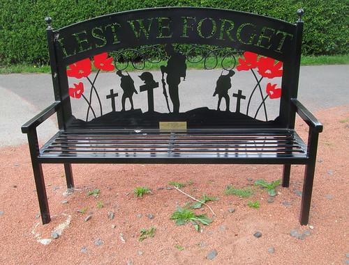 War Memorial Bench, Lanchester