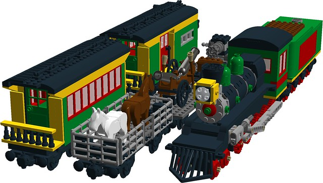 Wild West - El Gobernador 4-10-0 steam loco + military transport train