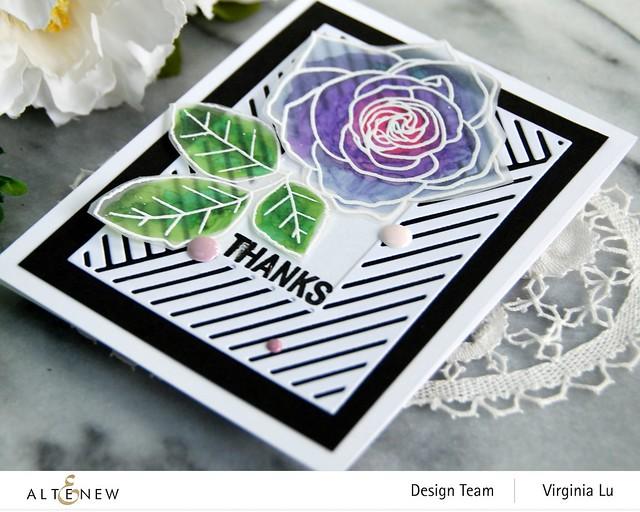 Altenew-Mix & Match Frame Die-Rose Tea Stamp Set-Birds of the Woods Stamp -002