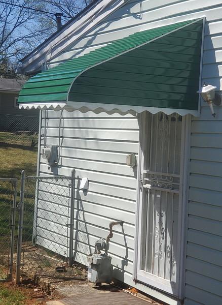 Small Door Aluminum Awnings Baltimore-Hoffman Awning