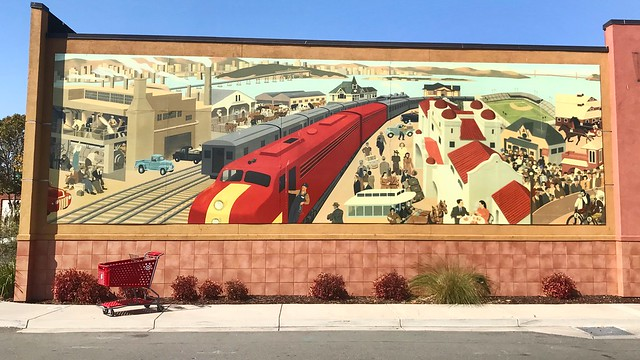 Mural depicting Bay Area history - Emeryville, CA