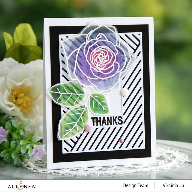 Altenew-Mix & Match Frame Die-Rose Tea Stamp Set-Birds of the Woods Stamp