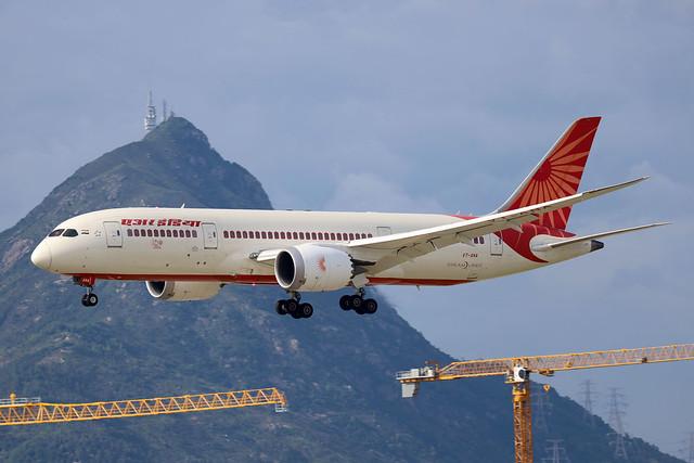 Air India B787-8 VT-ANA landing HKG/VHHH