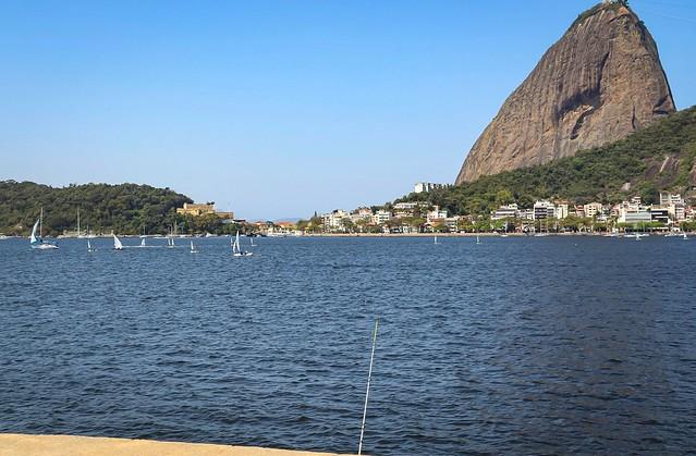 Vista da Baía de Guanabara no Monumento Estácio de Sá - Aterro do Flamengo/RJ