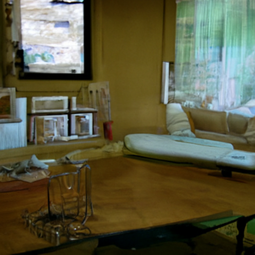 'a lounge room' Quick CLIP Guided Diffusion