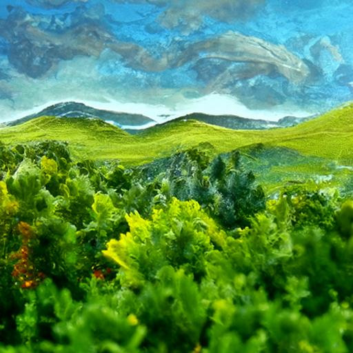 'a landscape' Quick CLIP Guided Diffusion