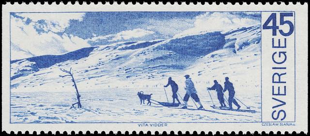 Swedish stamp by Czesław Słania