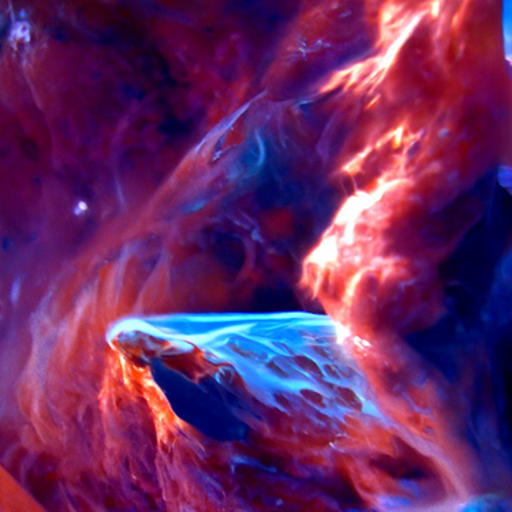 'a digital painting of a space nebula' Quick CLIP Guided Diffusion