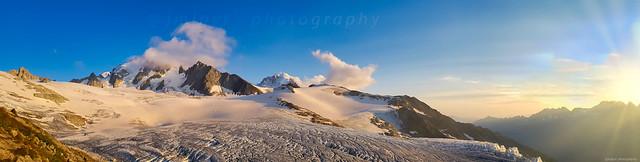 Glacier du Tour et aiguille du Chardonnet, Alpes françaises,