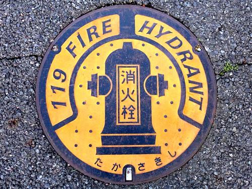 Takasaki Gunma, manhole cover 2 (群馬県高崎市のマンホール2)