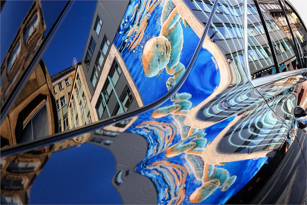 New beginning wall art reflection