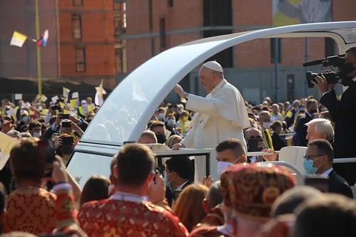 Boska Liturgia Bizantyjska pod przewodnictwem Franciszka w Preszowie  (32)