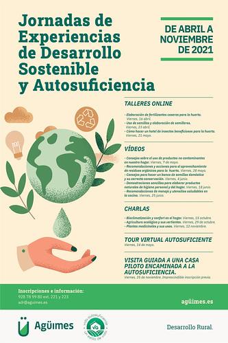 Cartel de las Jornadas de Experiencias de Desarrollo Sostenible y Autosuficiencia