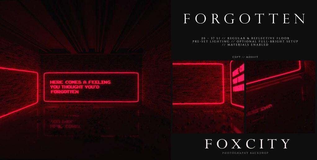 FOXCITY. Photo Booth – Forgotten