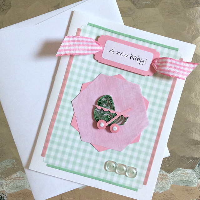 Make a Quilled Baby Card