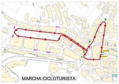 Recorrido de la marcha cicloturista Ermua