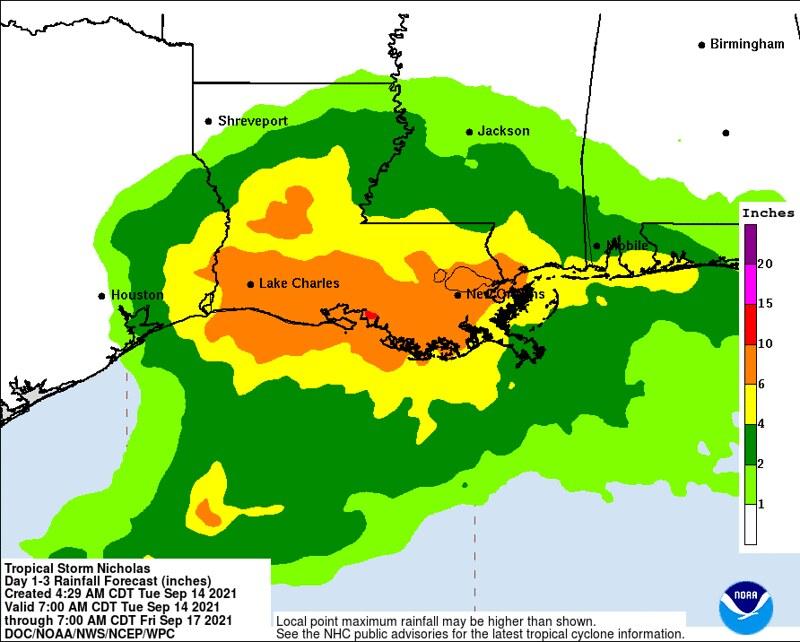 Post Ida Rainfall - https://www.nhc.noaa.gov