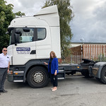 Kate Griffiths MP visits Keltruck Scania Burton