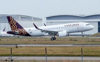 F-WWBO / VT-TQH Airbus A320-251N Vistara s/n 10576 * Toulouse Blagnac 2021 *