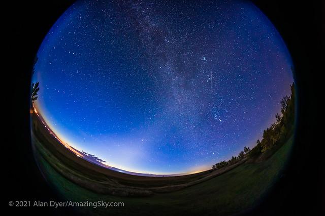 The Zodiacal Light at Dawn (Fish-Eye)