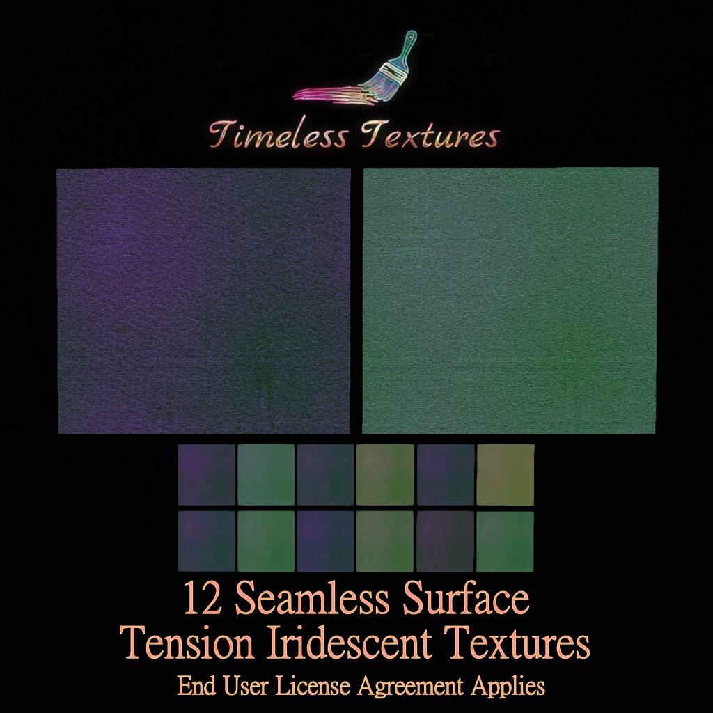 TT 12 Seamless Surface Tension Iridescent Timeless Textures