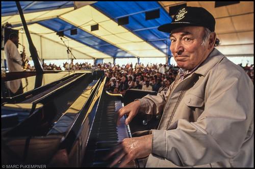 George Wein at Jazz Fest 1992. Photo by Marc PoKempner.