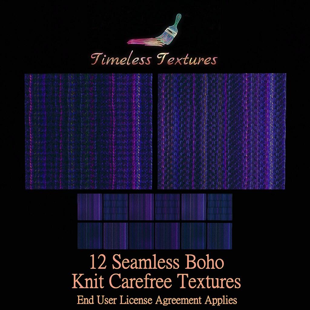 TT 12 Seamless Boho Knit Carefree Timeless Textures