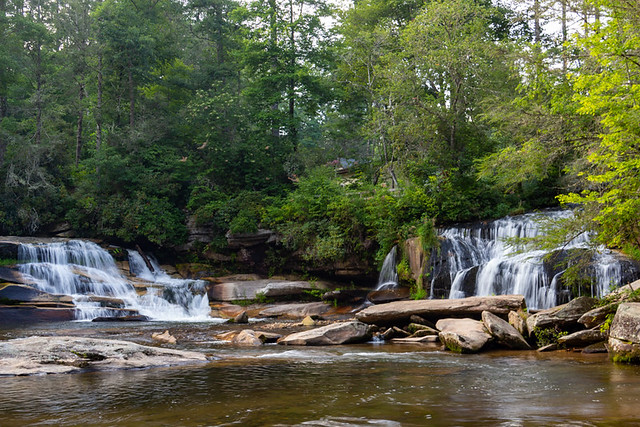 Mill Shoals Falls and French Broad Falls