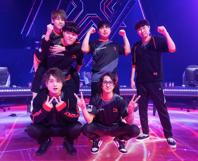 "Crazy Raccoon, Yusuke ""neth"" Matsuda, Teppei ""ade"" Kuno, An ""Medusa"" Min Cheol, Byeon ""Munchkin"" Sang-beom, Hideki ""Fisker"" Sasaki, Young-bin ""Twinkl"" Lim"