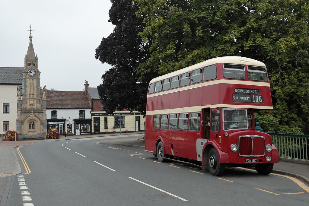 AEC Regent V.VDV 817. Lowman Green, Tiverton.05.09.21.RAyre