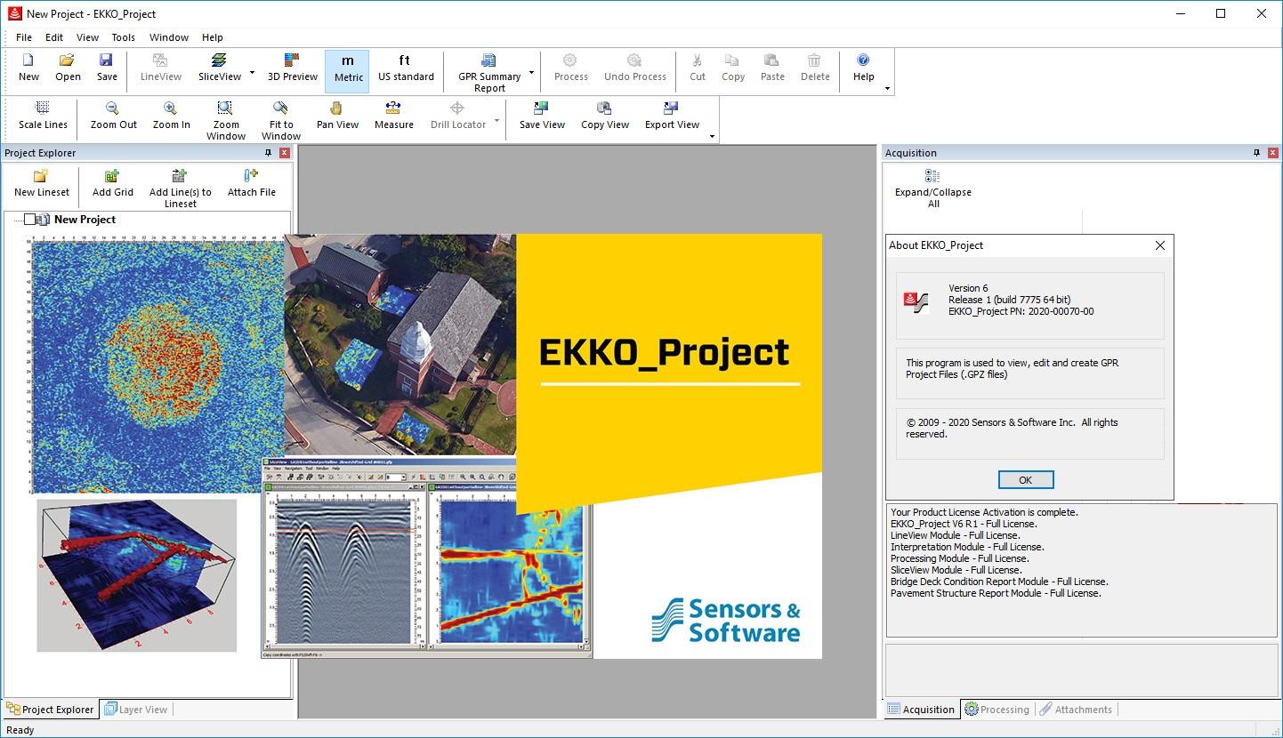 Working with Sensors & Software EKKO_Project V6 R1 build 7775 full