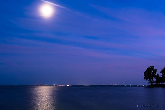 Shimmering moon