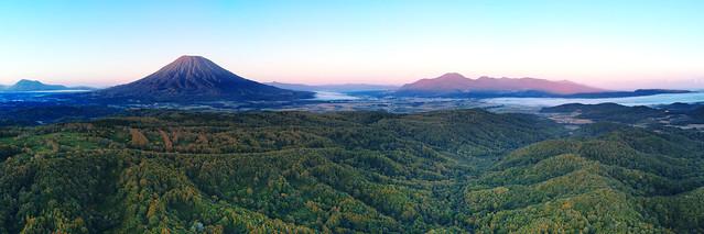 Sunrise  over Mt. Shiribetsu - Mount Yōtei - Mt. Niseko-Annupuri