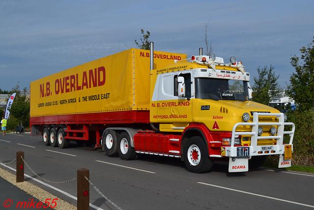 Scania T144 'N.B. Overland' reg NBO 144T