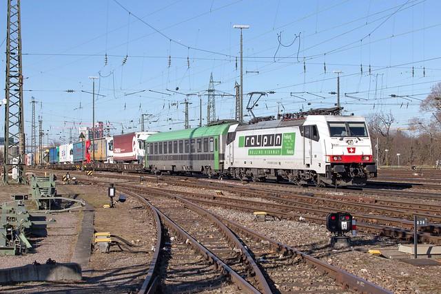 Akiem 186 907 Basel Badischer Bahnhof