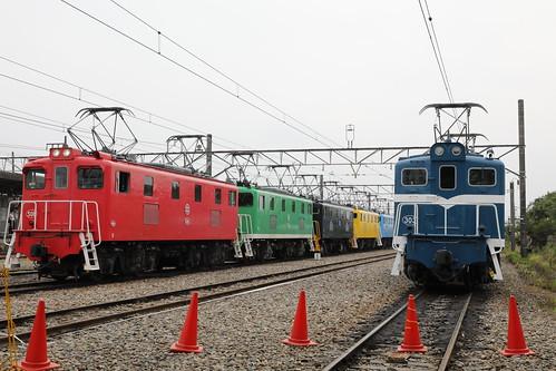 武川駅構内 電気機関車撮影会場 イメージ