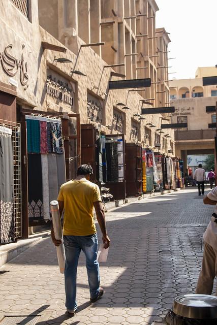 A special delivery, Textile souks, Dubai, United Arab Emirates