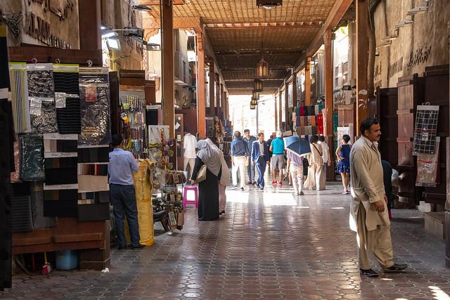 A great place to browse, Textile souks, Dubai, United Arab Emirates