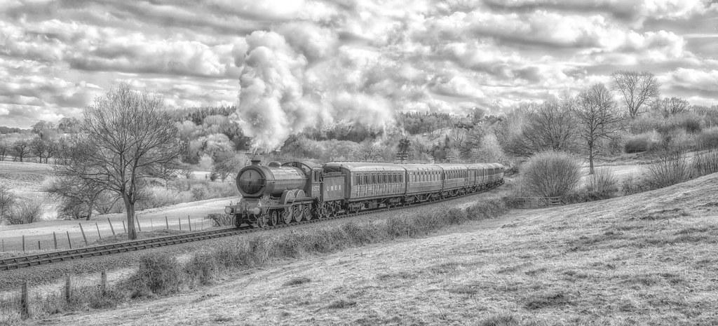 Steam in the Severn Valley -  B/W Version