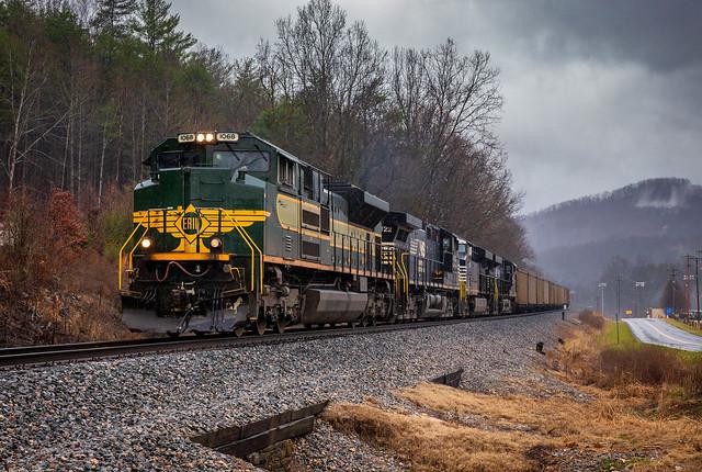 Erie leading NS 757. Cave Spring, Va.
